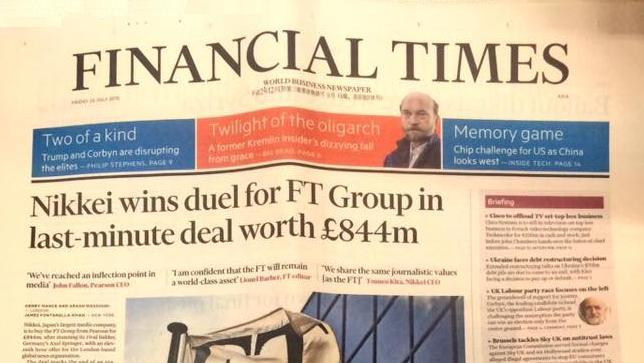 Nikkei a cumpărat FT