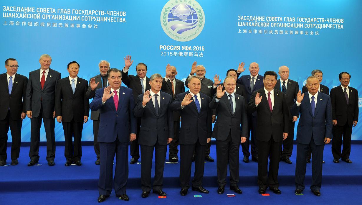 Liderii statelor membre ale Organizației de Cooperare de la Shanghai cu ocazia summitului din Rusia, din 2015