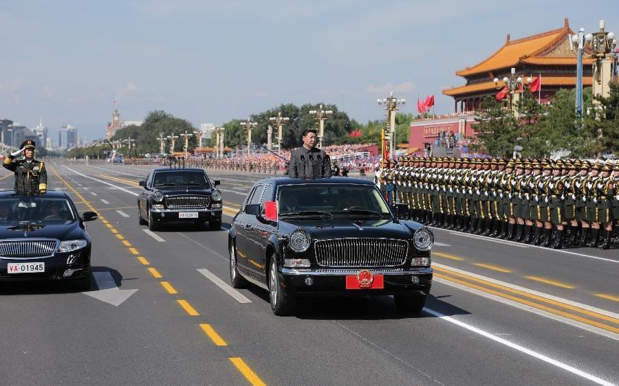Xi Jinping la parada militară din Beijing