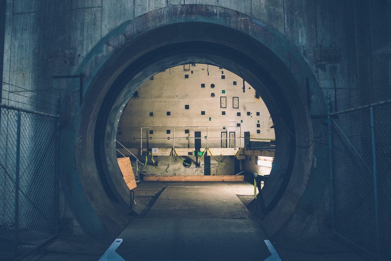 Interiorul unui reactor nuclear din Centrala Nucleară de la Satsop, din Statele Unite, care a fost închisă.