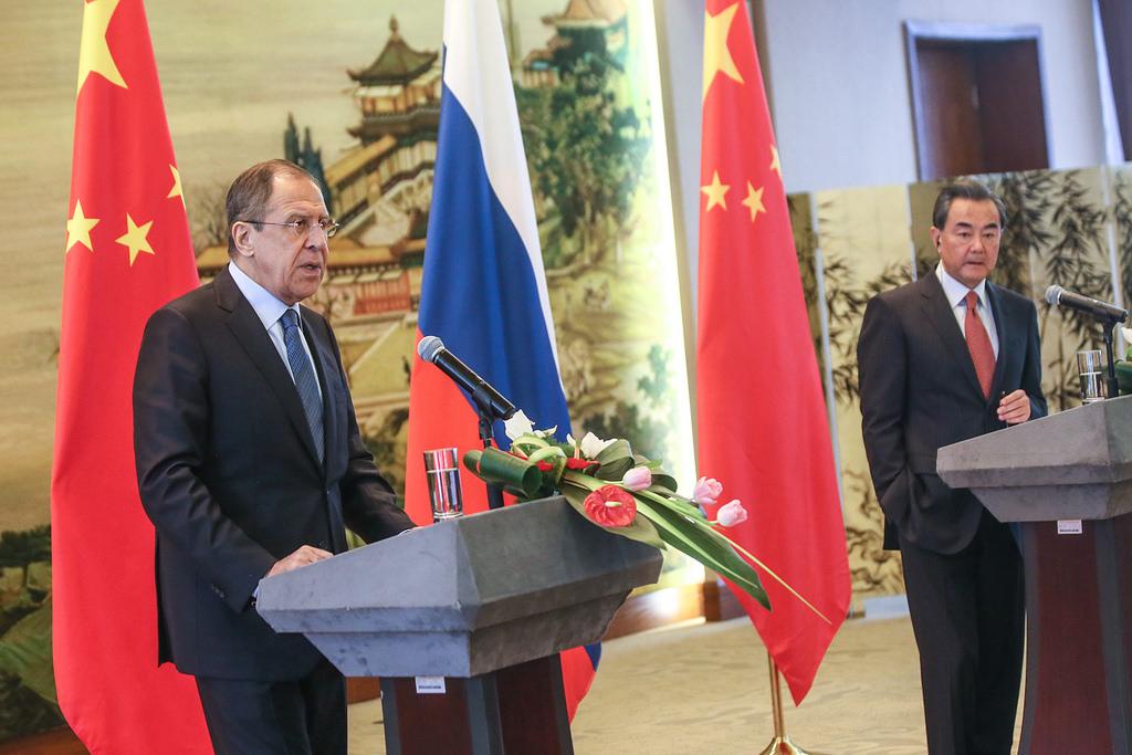 Conferința de presă de la Beijing a ministrului rus al afacerilor externe, Sergey Lavrov, și a omologului său chinez, Wang Yi
