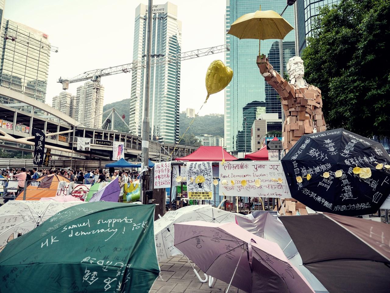 Revoluția Umbrelelor din 2014, Hong Kong