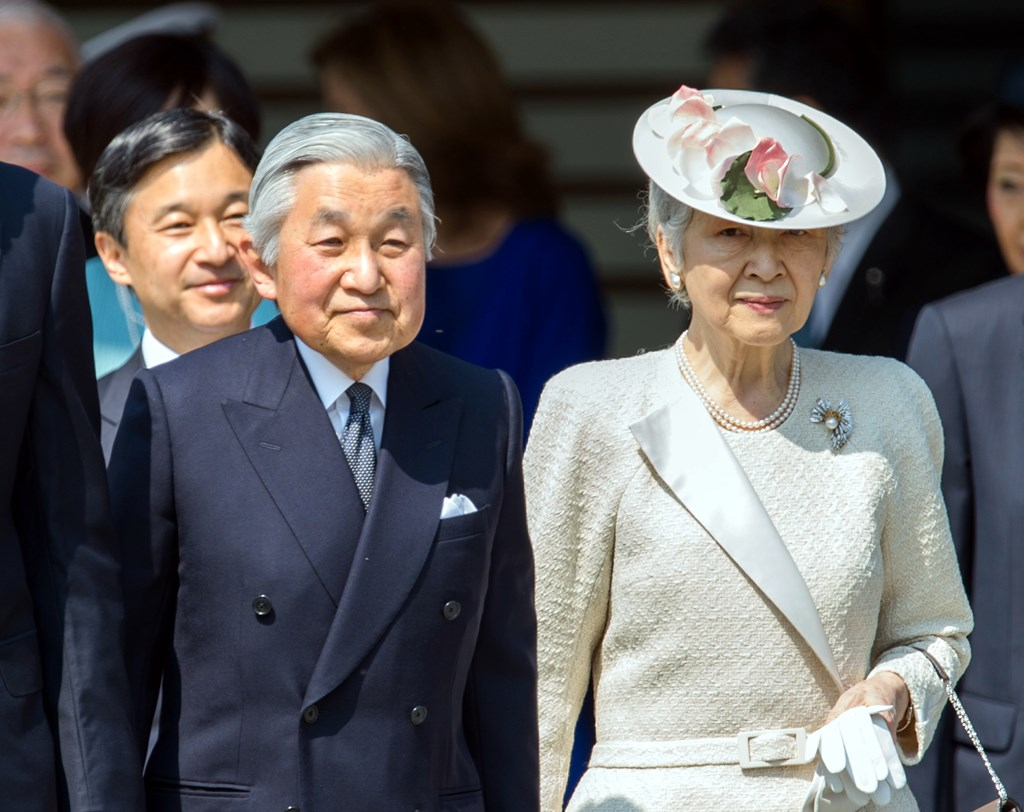 Împăratul Akihito și Împărăteasa Michiko