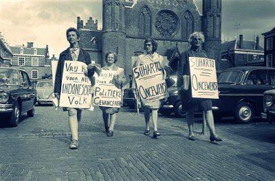 Proteste anti-Suharto in Olanda