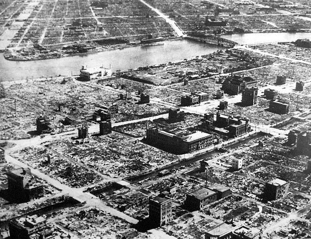 Capitala Japoniei, Tokyo, după intense bombardamente americane