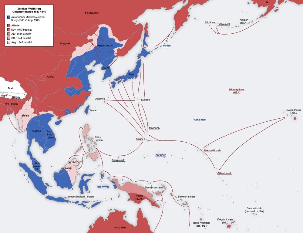 Strategia Island Hopping folosită de SUA în Pacific împotriva Imperiului Japonez