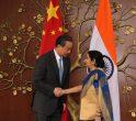 Wang Yi și Sushma Swaraj
