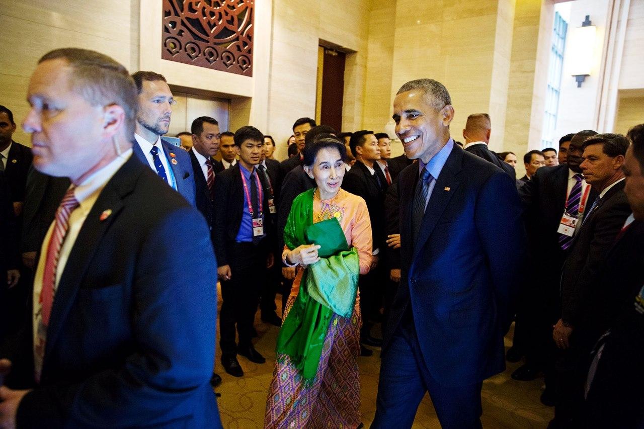 Barack Obama și Aung San Suu Kyi
