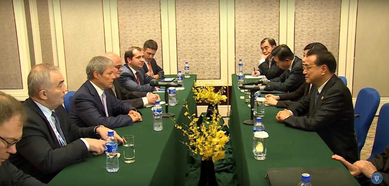 Întâlnirea dintre prim-ministrul Dacian Cioloș și premierul Li Keqiang cu ocazia summitului ASEM
