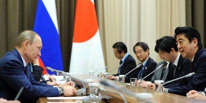 Vladimir Putin și Shinzo Abe
