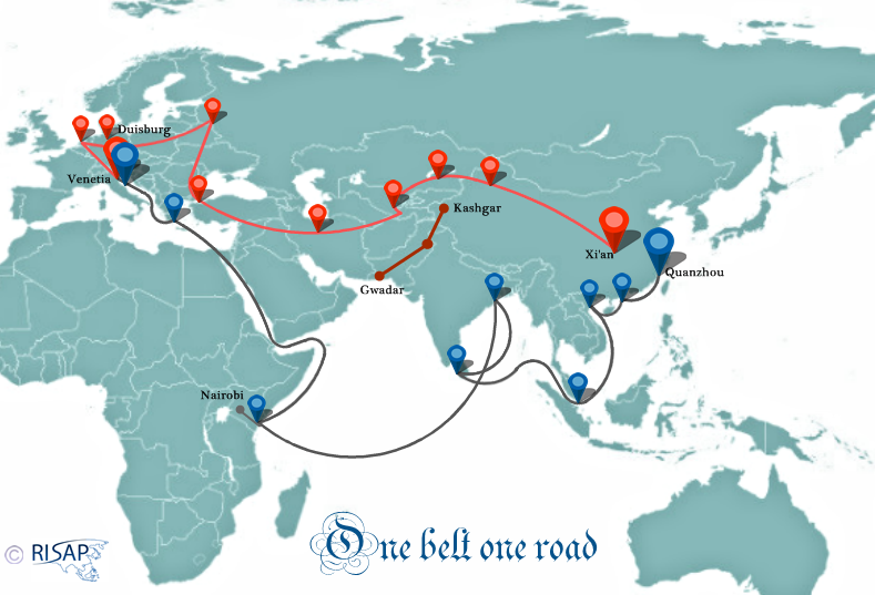 Harta One Belt One Road