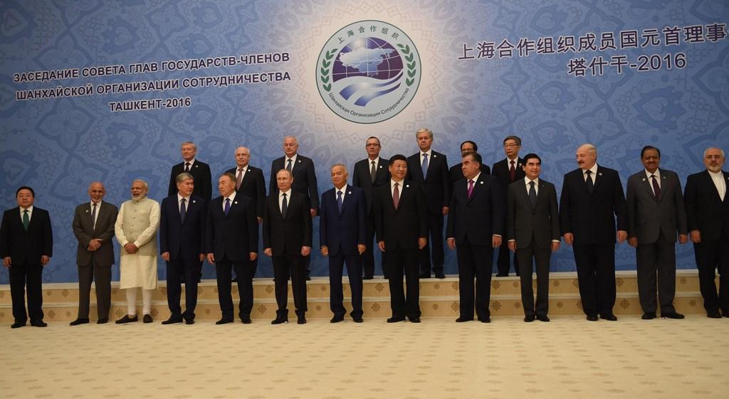 Liderii statelor membre ale Organizației de Cooperare de la Shanghai cu ocazia summitului din Uzbekistan, din 2016