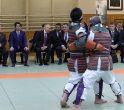 Vladimir Putin și Shinzo Abe urmăresc o demonstrație de judo
