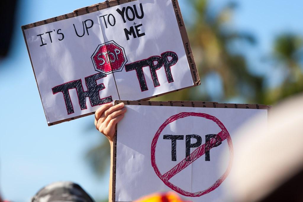 Protest anti-TPP