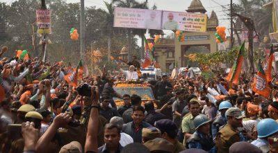 Prim-ministrul Indiei, Narendra Modi, în campanie în Uttar Pradesh