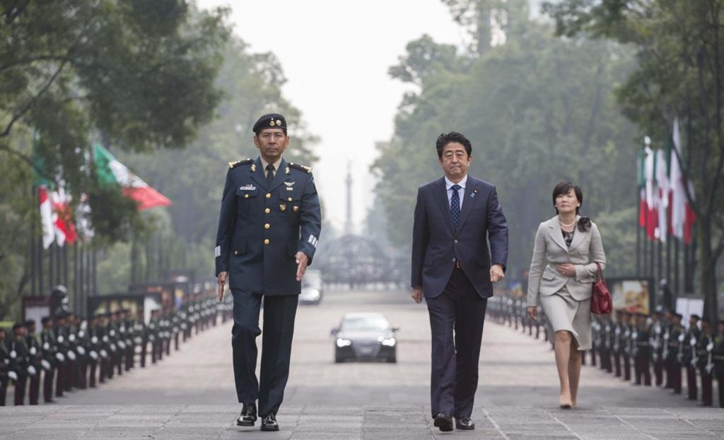 Shinzo Abe și soția sa, Akie Abe