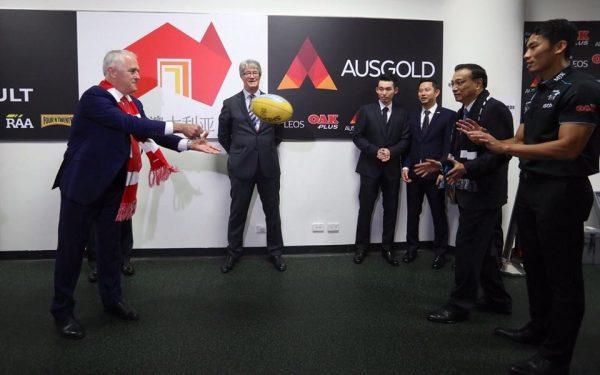 Li Keqiang si Malcolm Turnbull fotbal australian