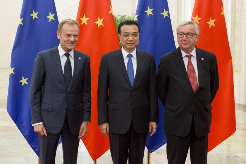 Li Keqiang la summitul China-UE din 2016