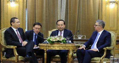 Politicianul chinez Sun Zhengcai alături de Victor Ponta și Valeriu Zgonea, în timpul vizitei sale în România, în 2014