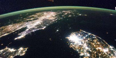 Coreea de Nord din satelit