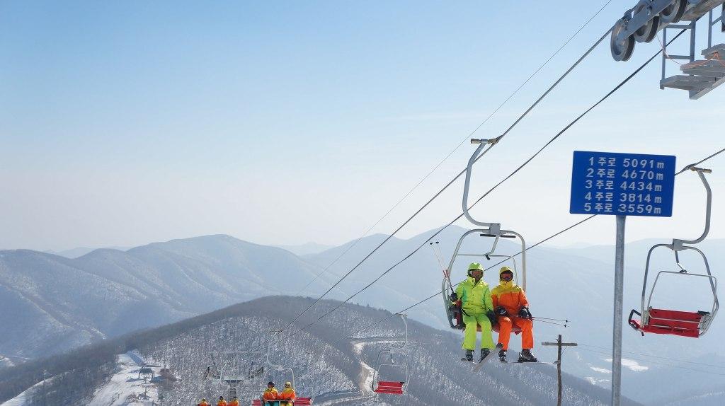 Pârtia de schi Masikryong din Coreea de Nord