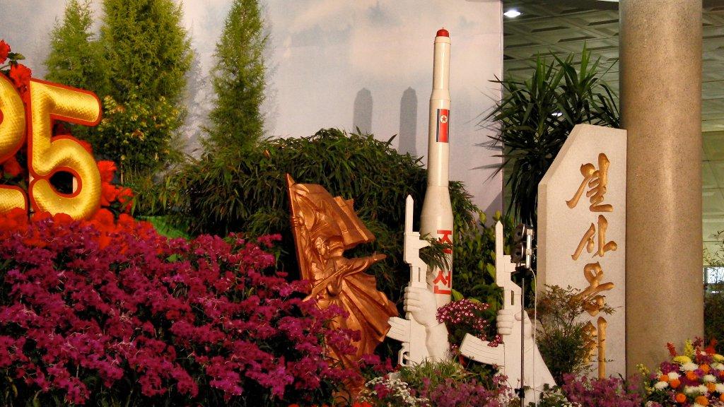 Machetă a rachetei nord-coreene Taepodong