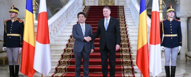 Shinzo Abe si Klaus Iohannis 2018