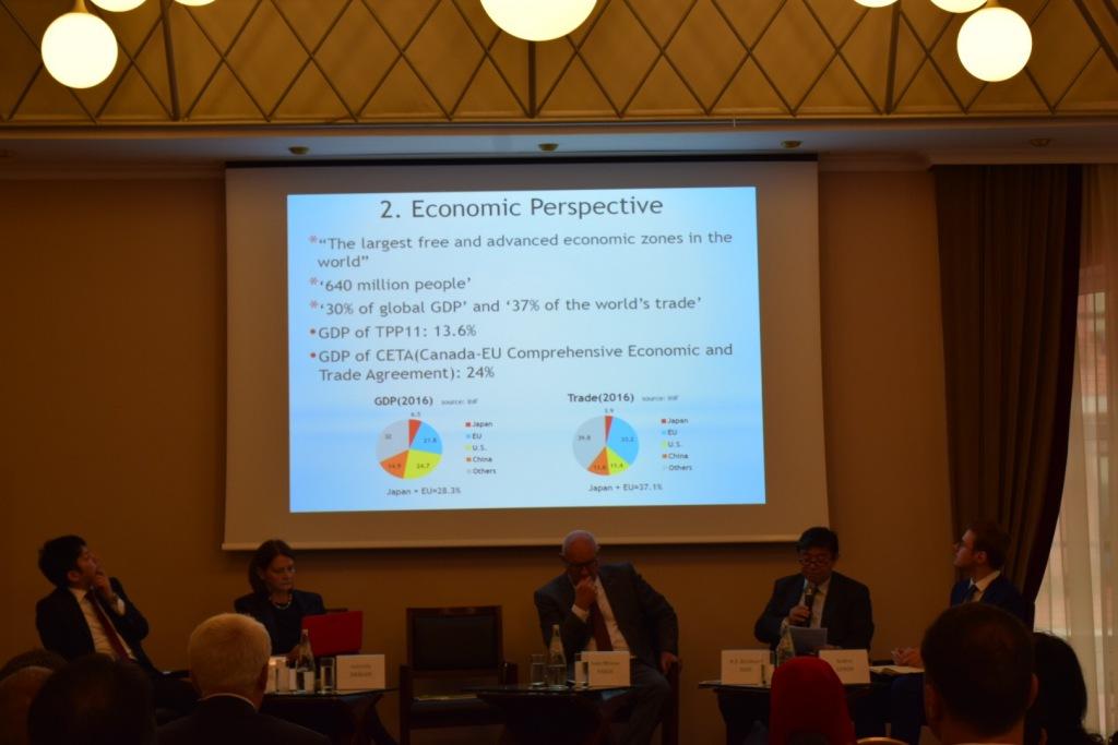 The presentation of H.E. Mr. Kisaburo Ishii, Ambassador of Japan to Romania