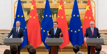 Donald Tusk, Li Keqiang și Jean-Claude Juncker
