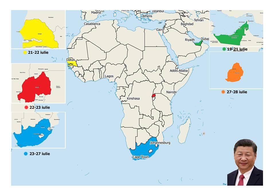 Tur diplomatic Xi Jinping Africa 2018