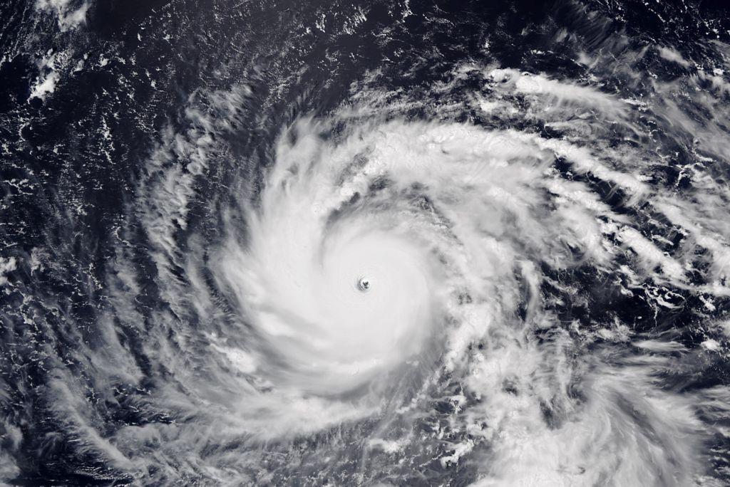 Taifunul Jebi înainte de a lovi Japonia