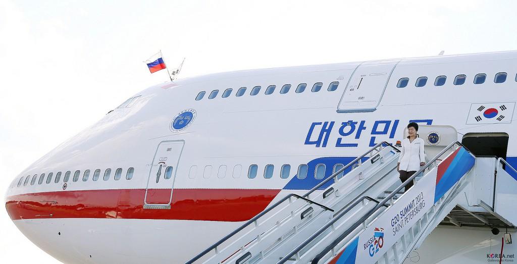 Park Geun-hye, fosta președintă a Coreei de Sud, vizitând Rusia cu ocazia Summitului G-20 din 2013