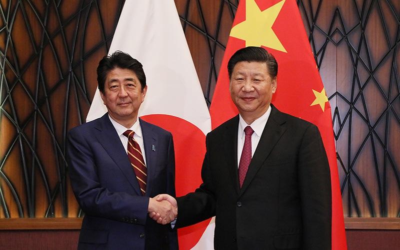 Shinzo Abe și Xi Jinping în 2017