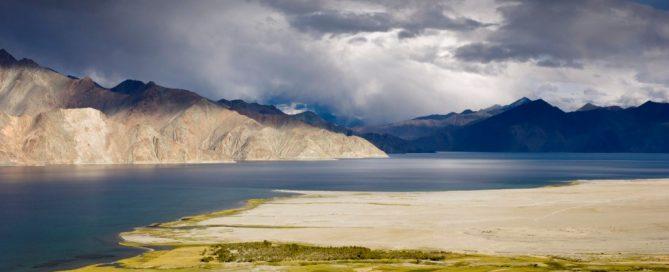 The Pangong Lake between India and China