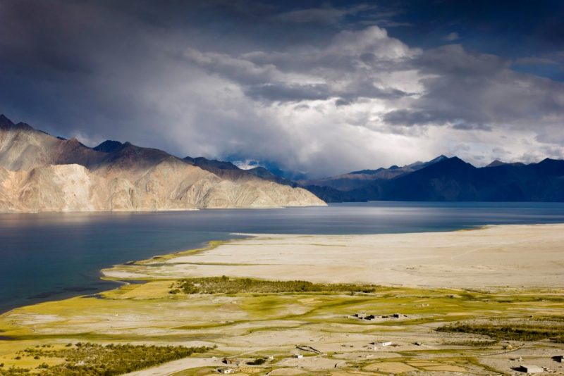 The Pangong Lake between India and China