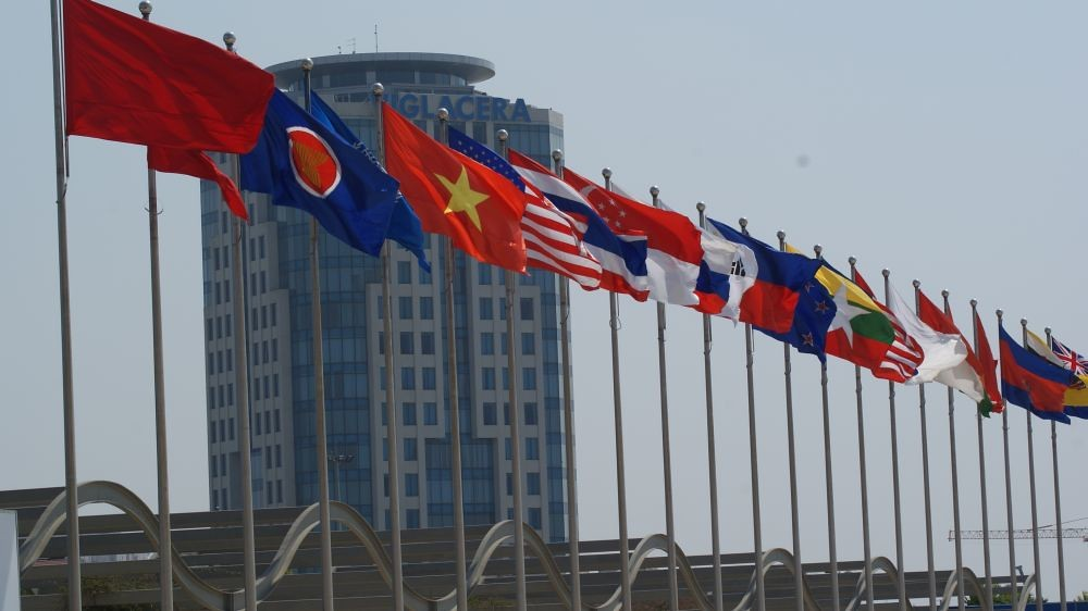 National flags of East Asia Summit participating countries in 2010