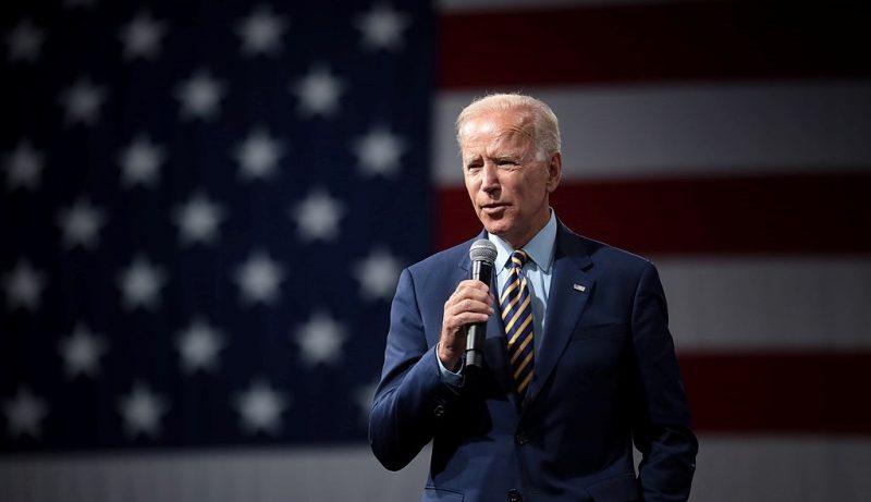 Joe Biden in front of US Flag