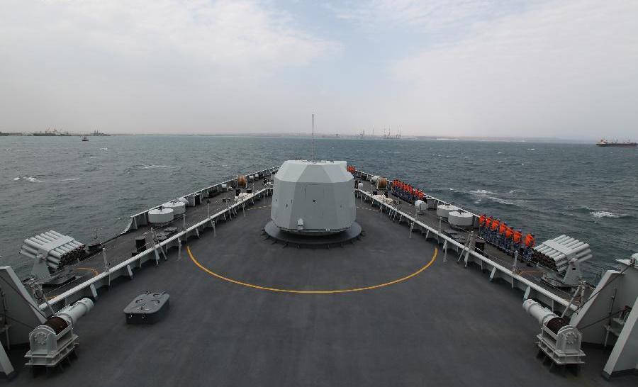 O nava chineza se apropie de portul Djibouti