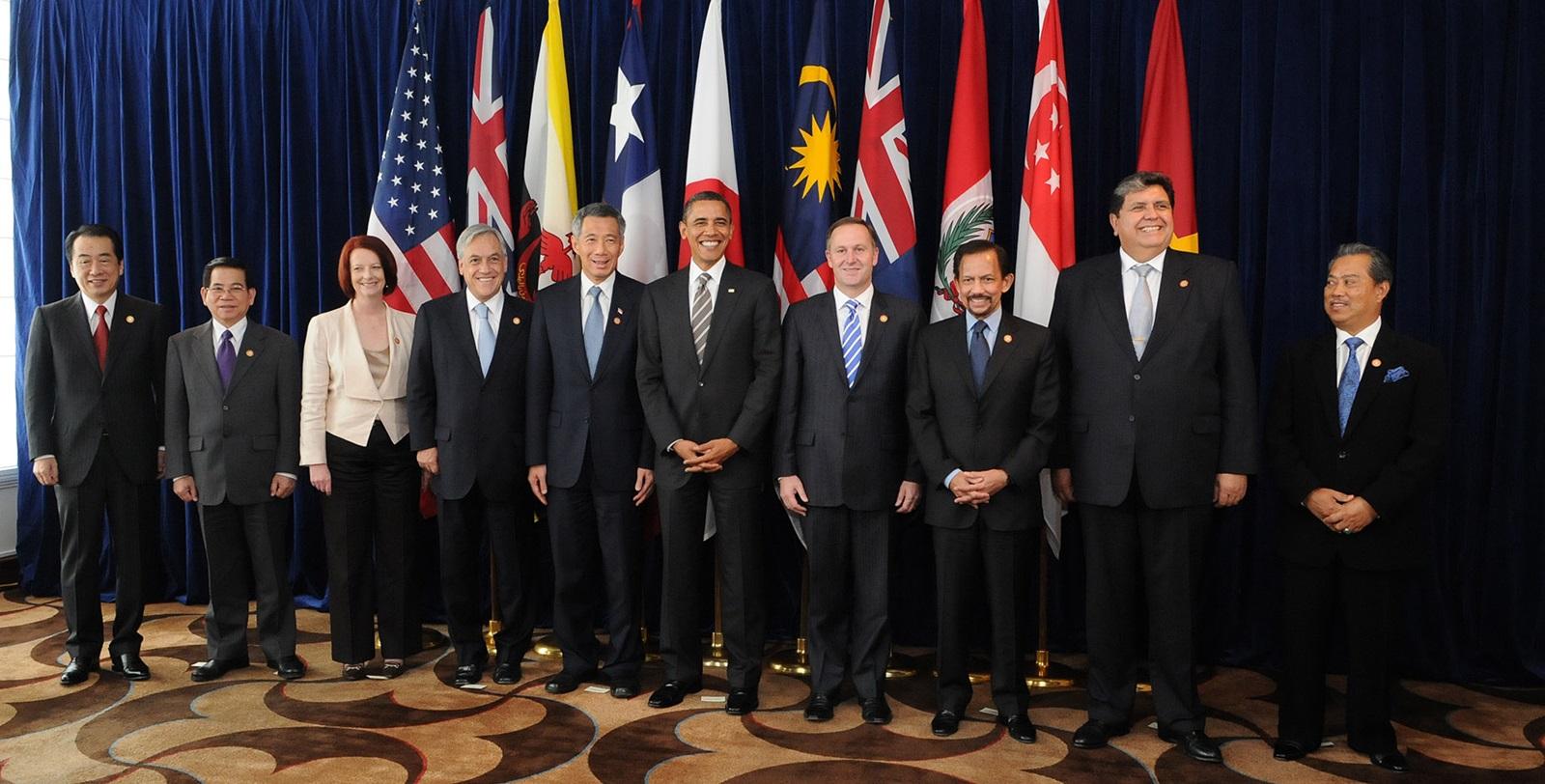 Barack Obama și liderii statelor TPP în 2010