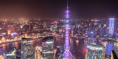 Oriental Pearl Tower din Shanghai