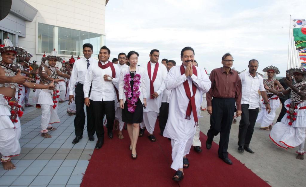 Mahinda Rajapaksa în Hambantota